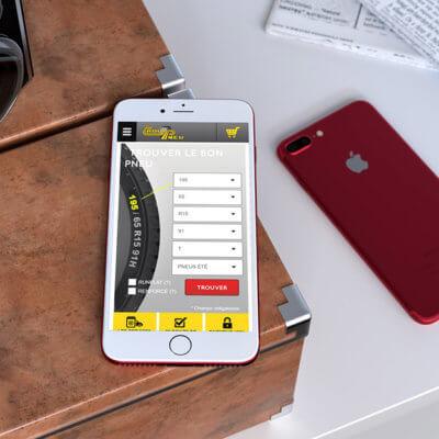 Site mobile du Taqui pneu