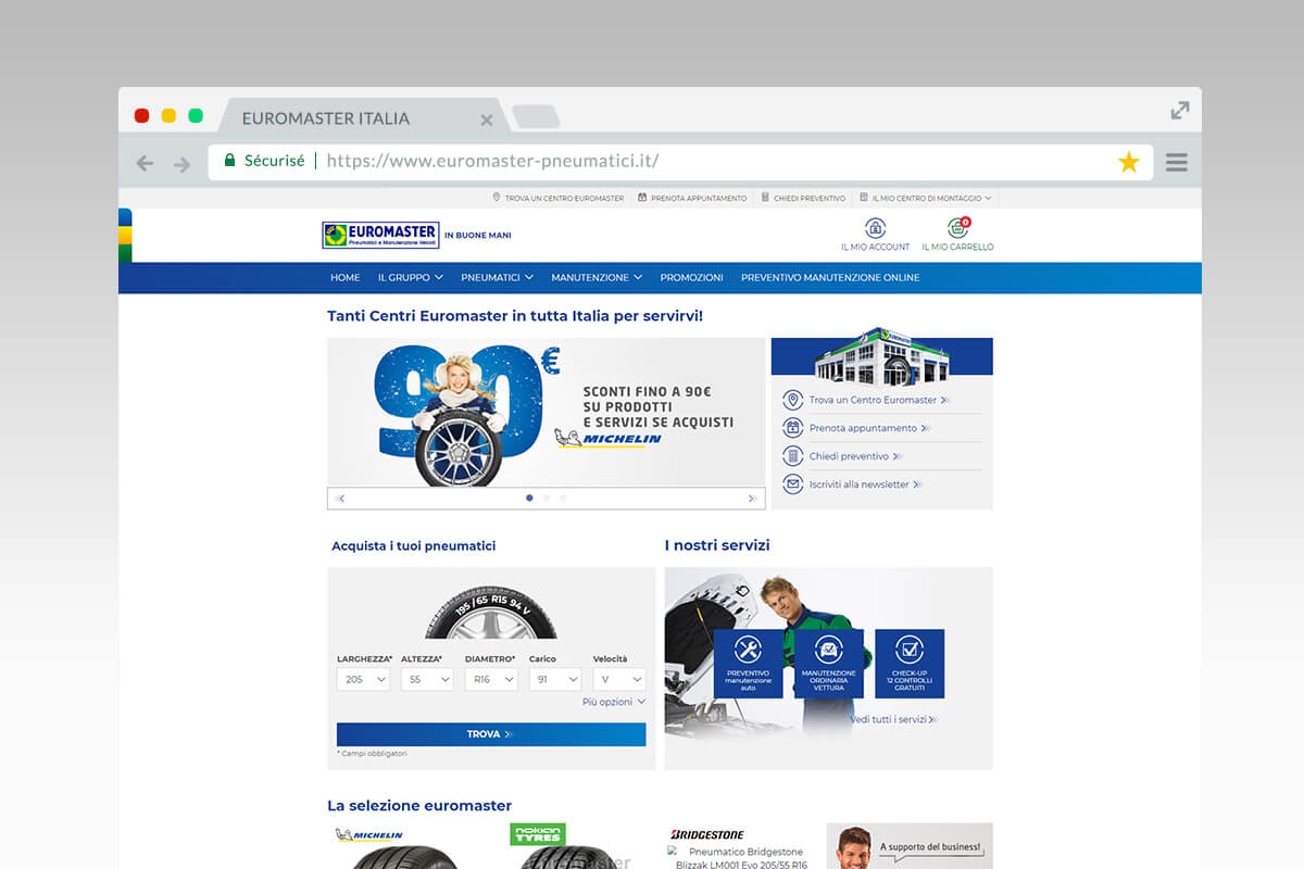 euromaster home page