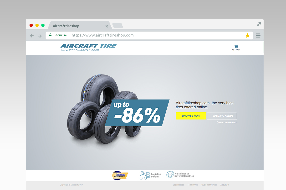 Aircraft Tire Shop home page