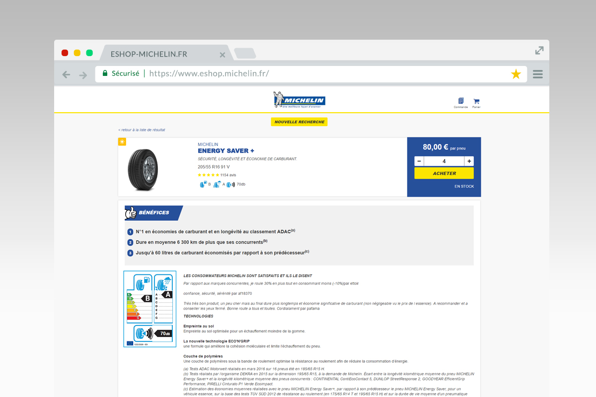 E shop michelin france site web 3 tyredating for Homepage shop