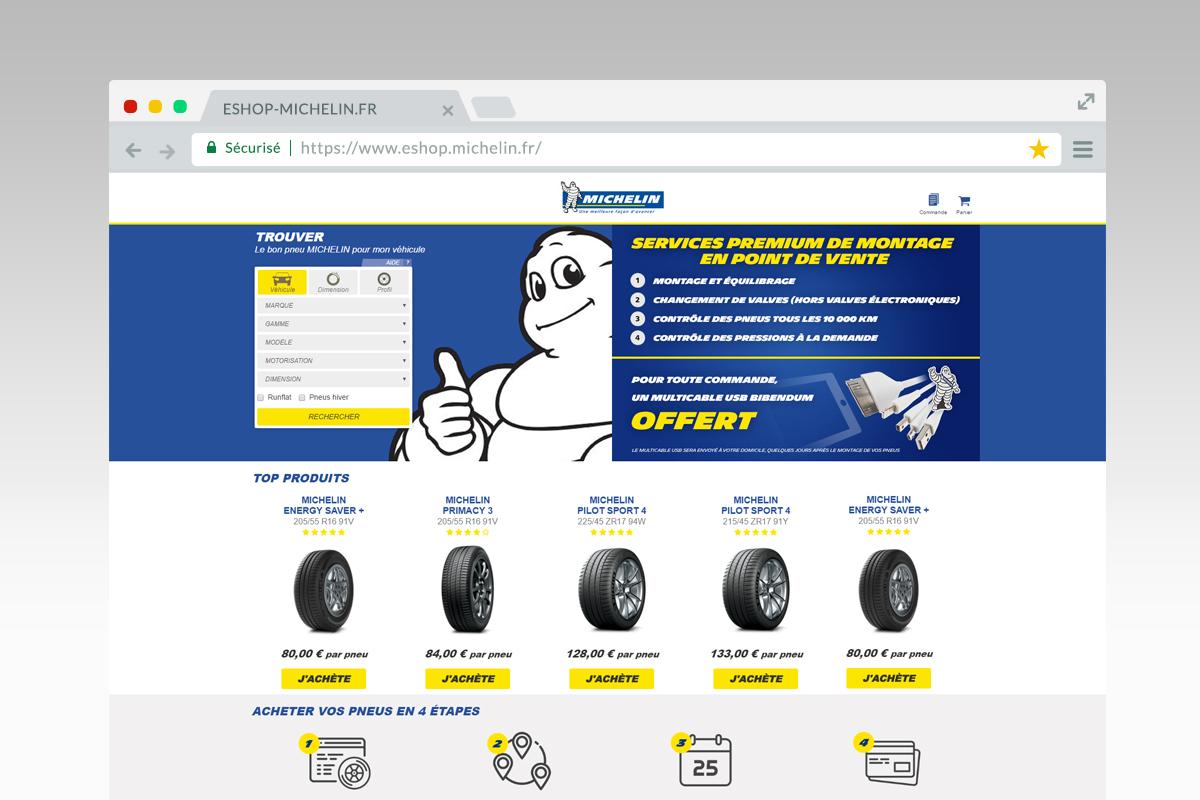 e-shop michelin france site web