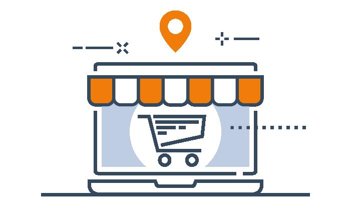 """Visuel de la solution """"Web To Store"""" de Tyredating"""