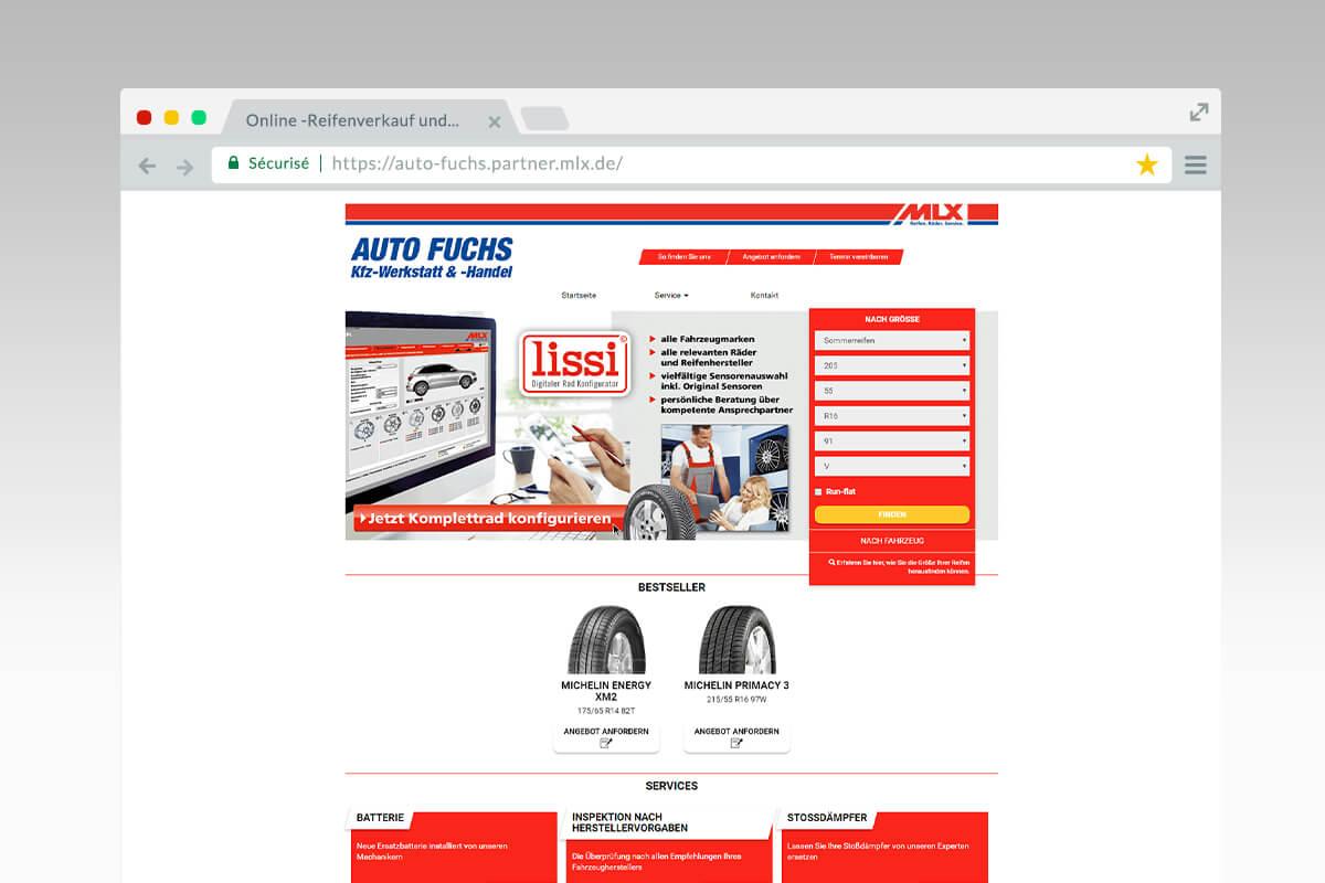 Home page Auto Fuchs - Réseau MLX