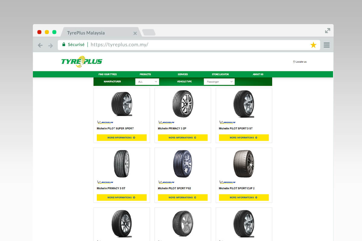 Tyreplus Malaysia tires result list
