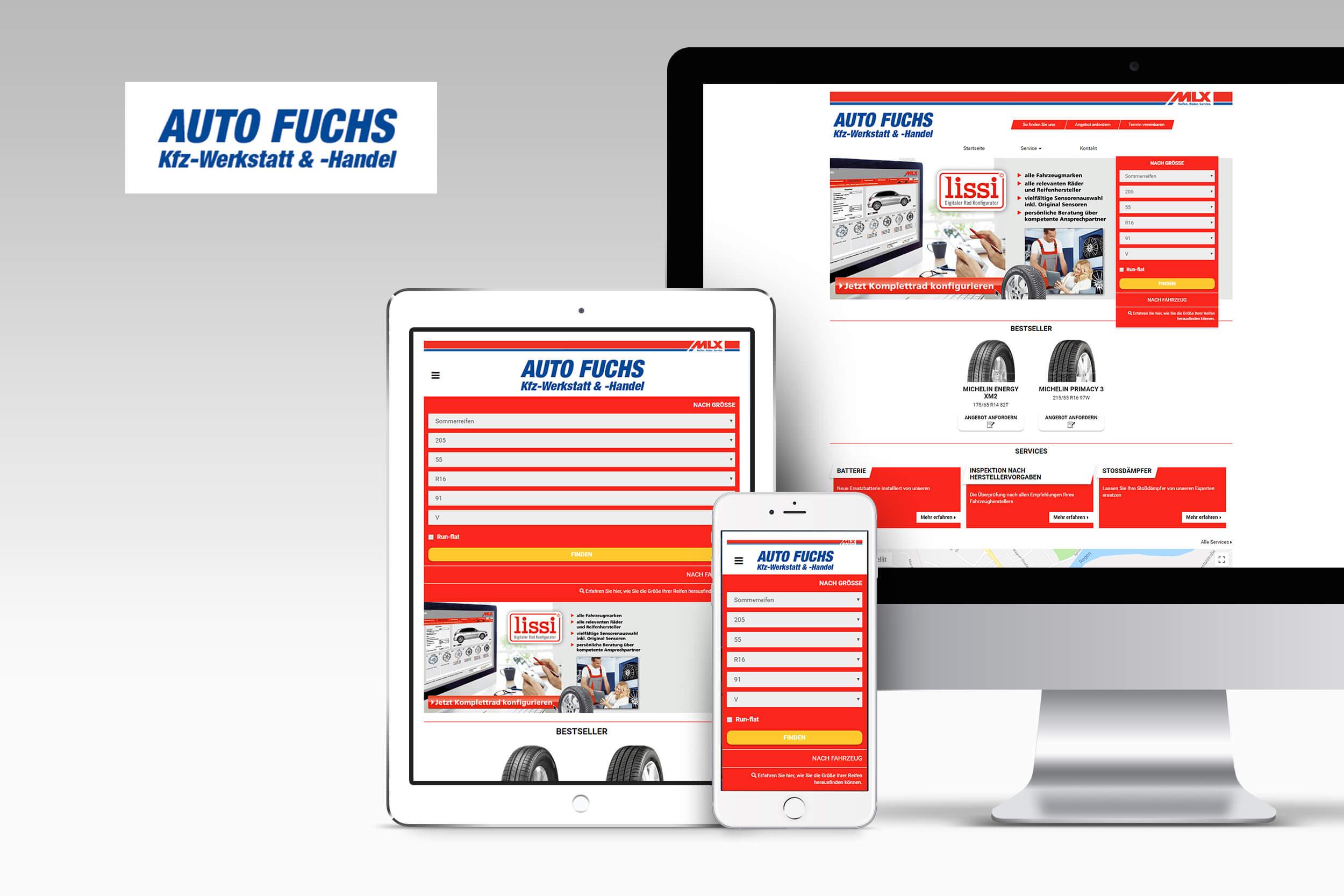 Page d'accueil du site Auto Fuchs