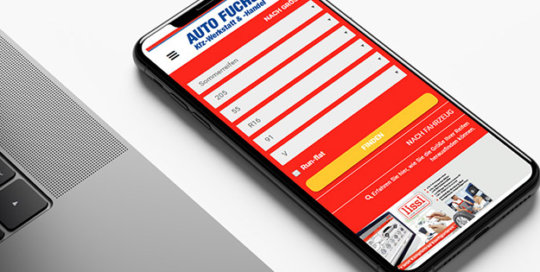 Mobile website Auto Fuchs (Wholesaler MLX)
