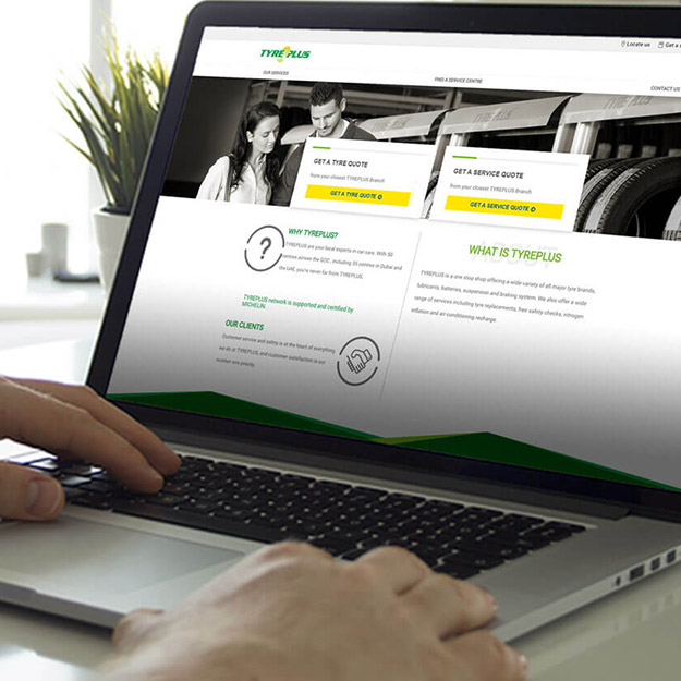 Mise en situation du site Tyreplus Middle East