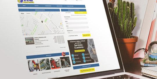 Page d'accueil d'un site réalisé par Yepgarage
