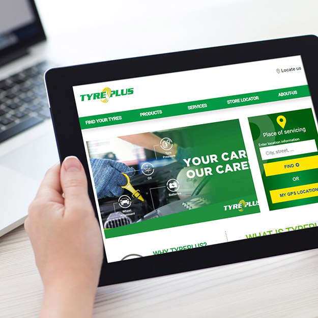 Home page du site Tyreplus