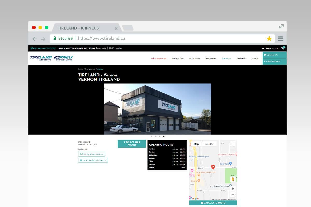 Tireland - dealer page