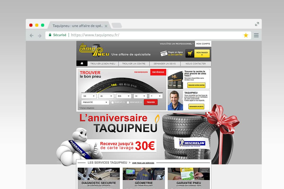 Page d'accueil de Taqui Pneu
